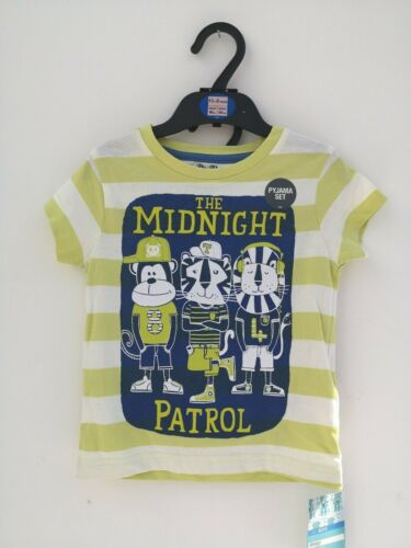 Boys Short Pyjama Set Sleepwear Midnight Patrol Ex M/&S Age 18-24 Months