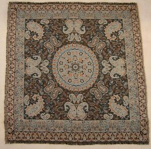 Persian-Tapestry-Art-Silk-Termeh-Paisley-Tablecloth-Wall-Hanging-Collectible-Rug