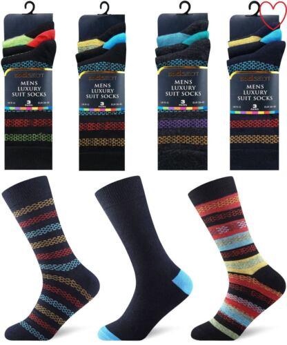 6 pares de calcetines de diseñador//12 para hombre Talla 6-11 Algodón Rico
