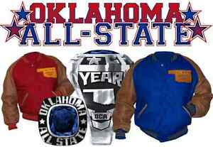 Oklahoma-034-All-Star-034-Blank-Letter-Jacket-Red