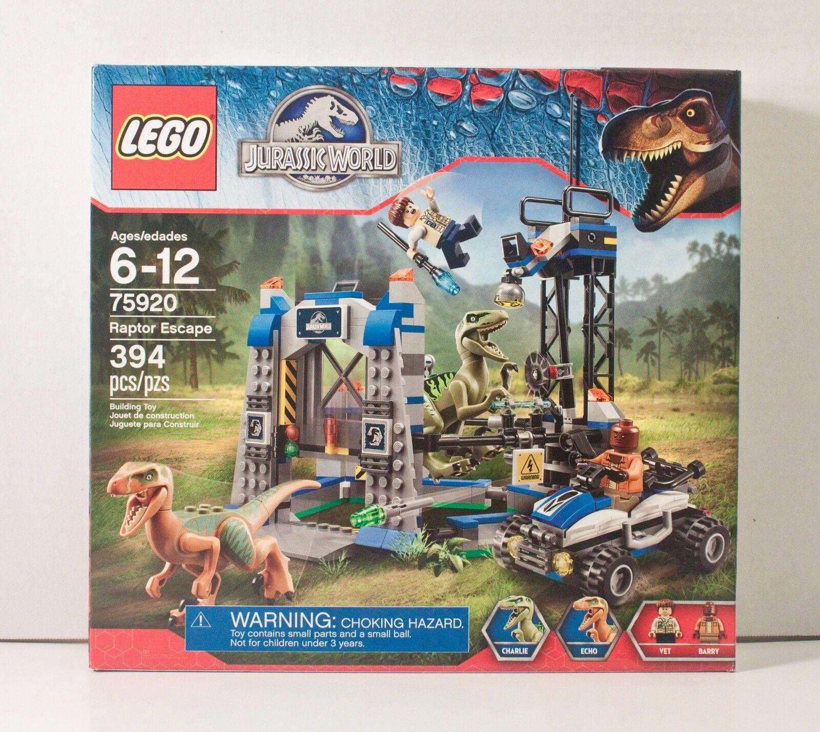 LEGO Jurassic World RAPTOR ESCAPE 75920 Dinosaurs CHARLIE ECHO Minifigure SEALED