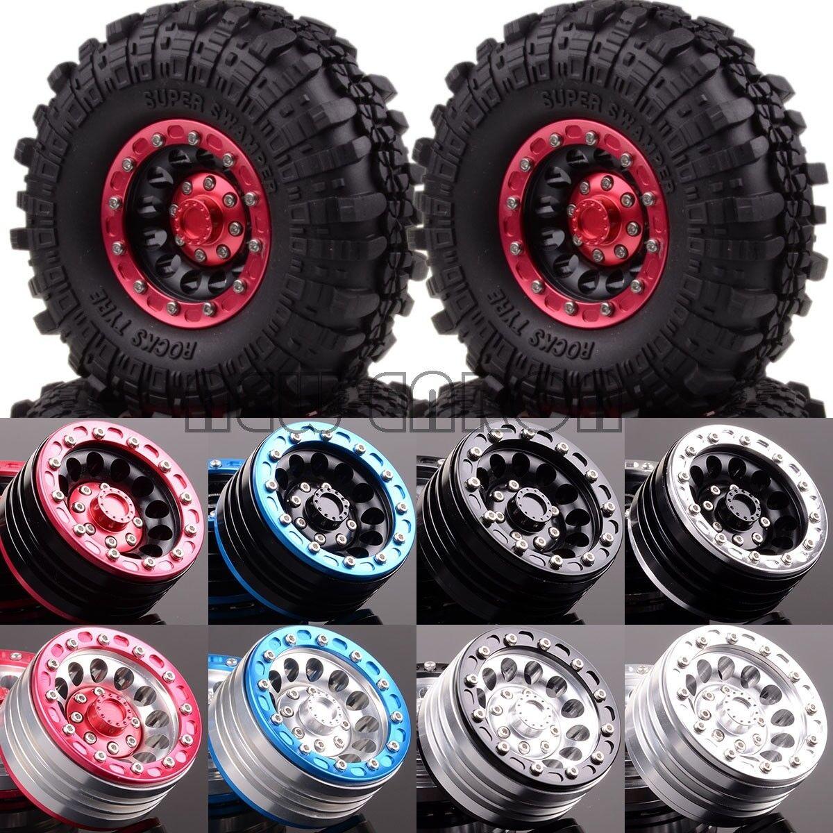 4P Metal 1.9  Wheel Complete Super Swamper Rocks 1060-7035 RC 1 10 Rock Crawler