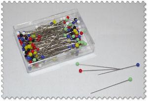Stecknadeln Glaskopf EXTRADÜNN 10g Länge: 35mm / nickelfrei rostfrei bügelfest