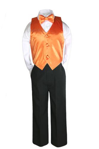 14 Color 7pcs Baby Boy Formal Wedding Black Suits Tuxedo Extra Vest Bow Tie S-20