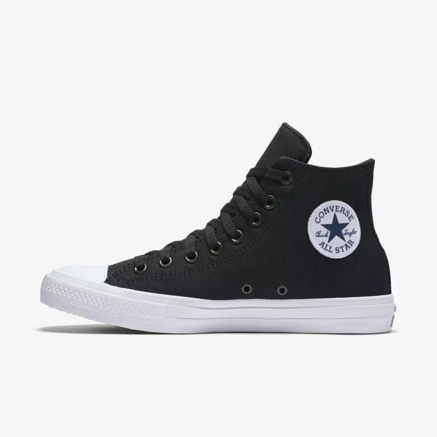 hombres Converse Chuck Taylor AllStar Alta Informales Zapatos, 150143C II Talla 10 Negro