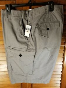 cde53f9e188e Details about Izod Men's Saltwater Chino Shorts Size 42 NWT Beige Flat Front