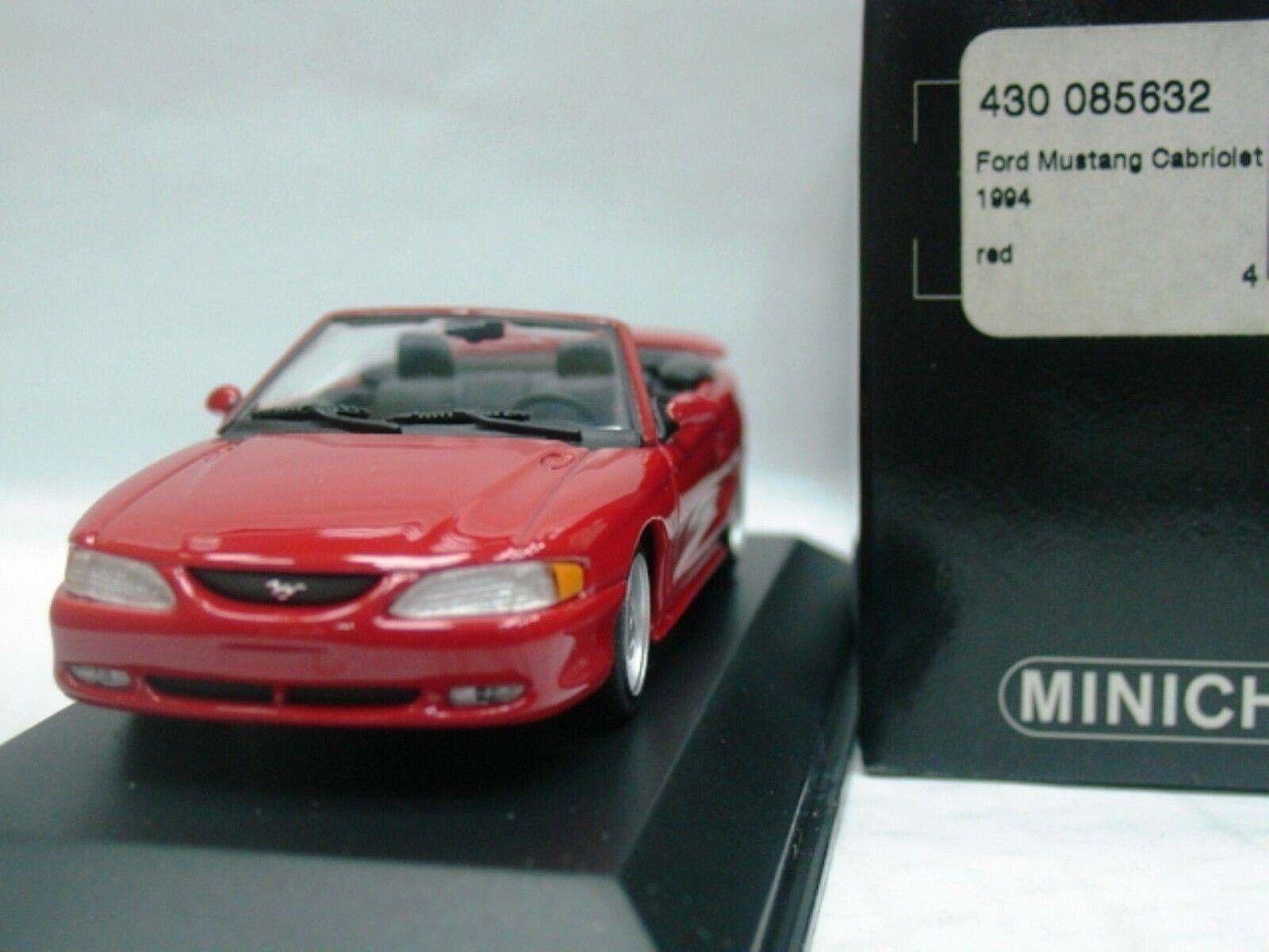 WOW estremamente RARA FORD MUSTANG GT V8 1994 CABRIO rosso 1 43 Minichamps - 2005