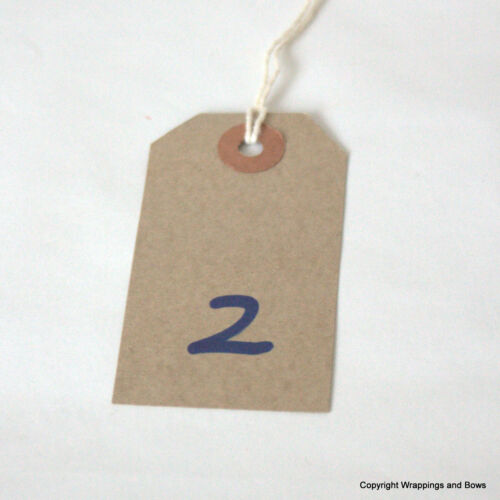 Qty Manilla Choose Size Natural Kraft Strung Gift Tags Tie On Labels Buff