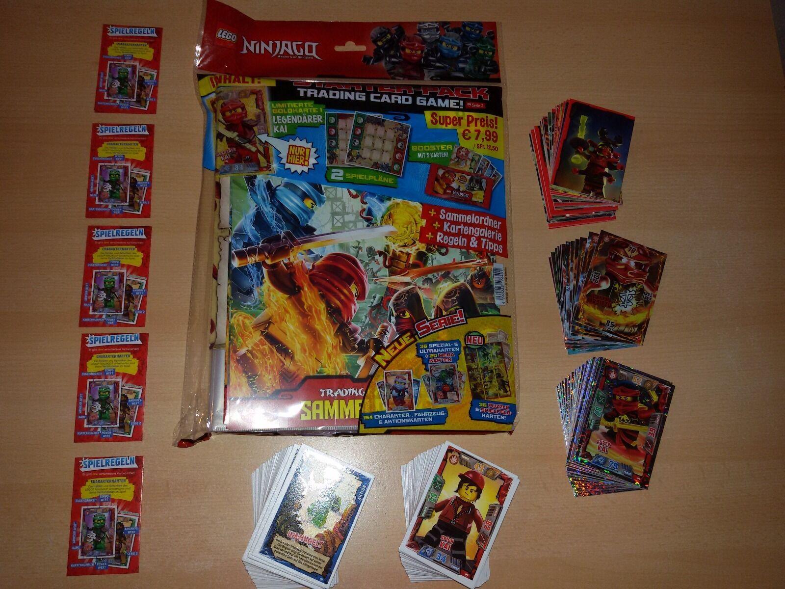 Lego Ninjago Trading Cards Serie 2 Sammelmappe mit 218 Karten  ...nagelneu...