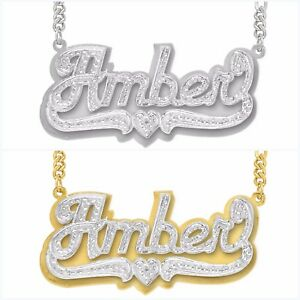Personalized-Sterling-Silver-Script-any-Name-Plate-Necklace-w-Free-Chain