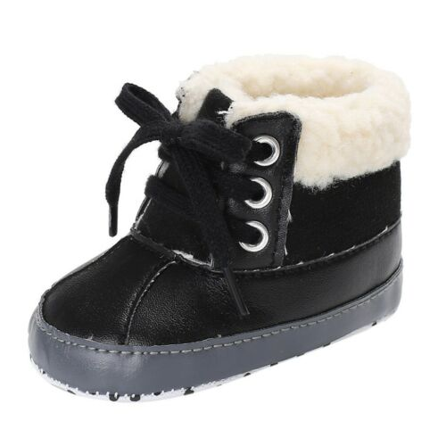 Infant Newborn Baby Toddler Boys Warm Ankle Snow Boots Crib Shoes Winter Shoes