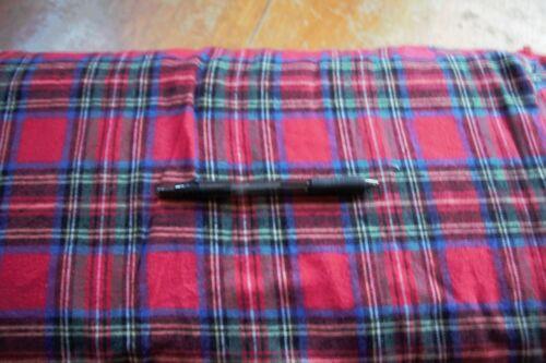 Kaufman Highlander Flannel Plaid Crimson By The Yard