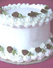"16 - 1 1/4""  Chocolate Edible Sugar Icing Rosebuds Cake & Cupcake Toppers"