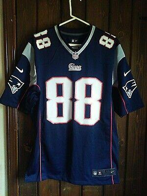 New England Patriots Jersey #88 Mulligan Signed Junior Nike Size Large | eBay