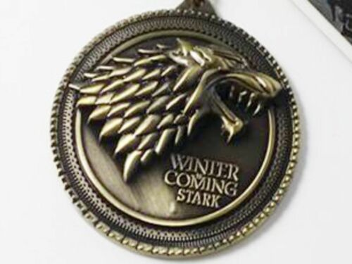 Game Of Thrones House Stark Bronze Pendant Necklace Winter is coming