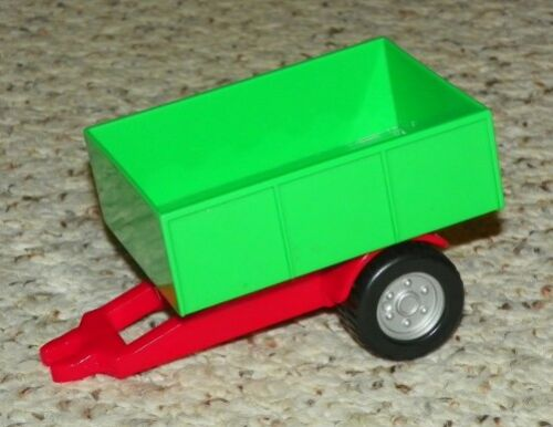 Red Duplo Trailer Frame and Green Trailer Bed w// 4 Sides LEGO