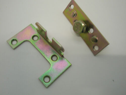 FURNITURE HEAVY DUTY YELLOW PASSIVATED 1 x SET  EASY FIX BED FITTING BRACKETS
