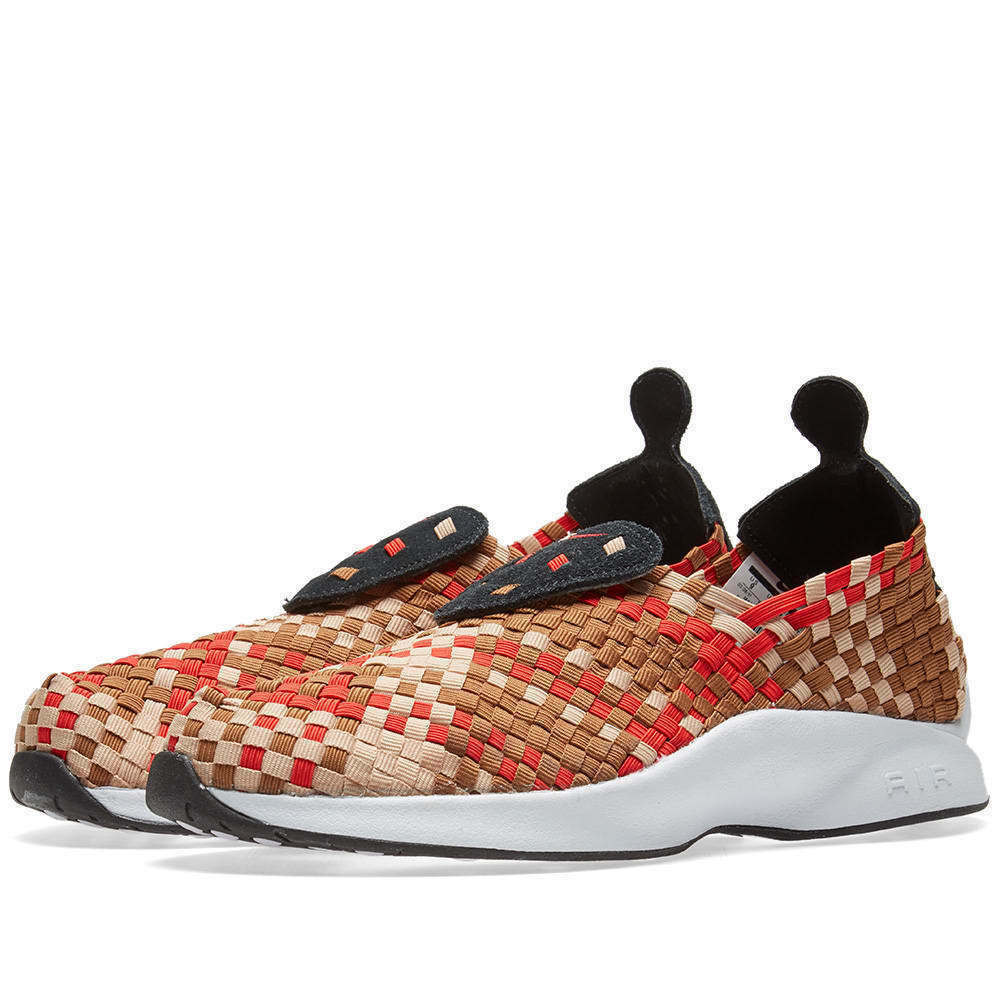 Nike Air Woven Baskets: Noir/Rouge/Blanc/Marron - 312422-004 - UK 9, 10-