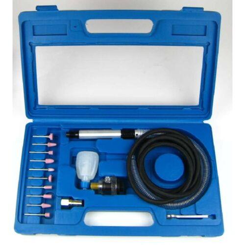 Luftschleifer Air Drill Kit AT-010K Schleifstifte 1/4 Zoll 6bar 56000 U/min