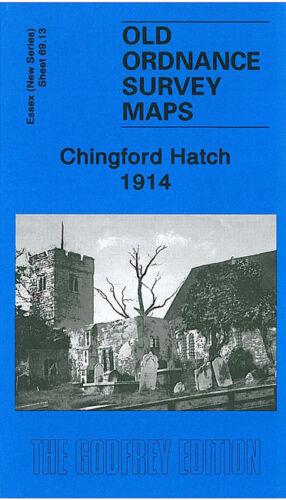 OLD ORDNANCE SURVEY MAP CHINGFORD HATCH 1914 BATEMAN ROAD HIGHAMS PARK