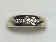 1/4 ct men's natural (REAL ) DIAMOND ring SOLID yellow GOLD