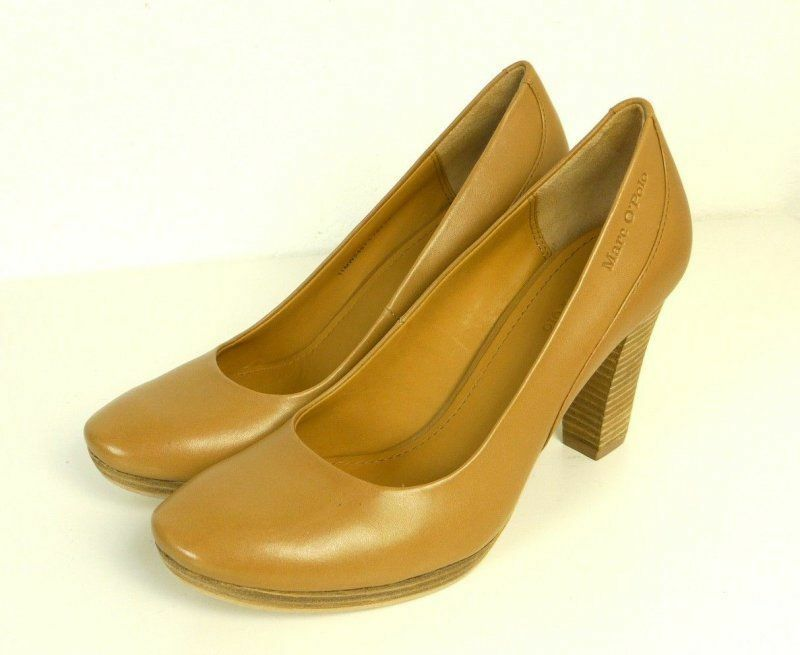 MARC O'POLO Pumps Pump Leder High Heels Gr. EU 38 Hellbraun  (SR11)