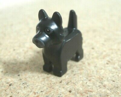 Terrier with Black Eyes /& Nose on Gray Background Pattern NEW 3x Black Lego Dog