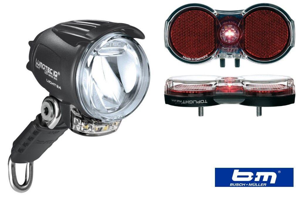 B  M bicicletta Set Fari Lumotec IQ Cyo T Senso Plus  Toplight Flat PLUS FANALE RETROVISORE
