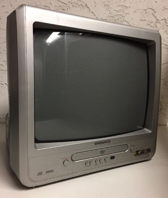 "Magnavox MWC13D6 13"" CRT TV DVD Combo Player Color Television"