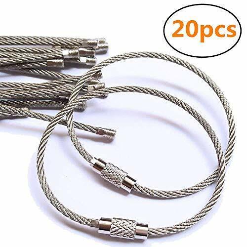 10Pcs Stainless Steel Split Rings Flat Key Rings Round Keychain For Key S5F6