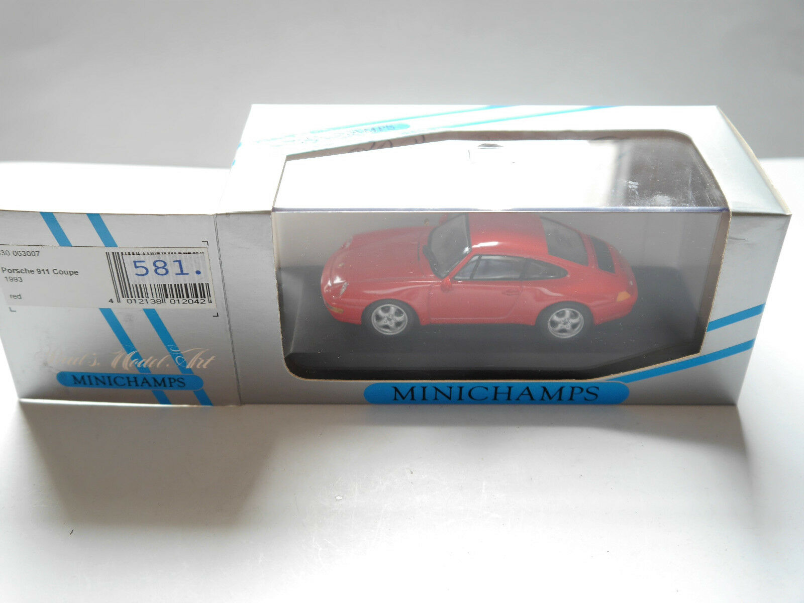 Porsche 911 (993) Coupe 1993 Rouge Rouge ROJA rouge, MINICHAMPS 430063007 1 43 en Boîte