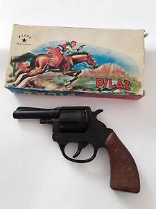 Vintage Grec western jouet pistolet Boîte de Pilaz Made in Greece Inutilisé!!!