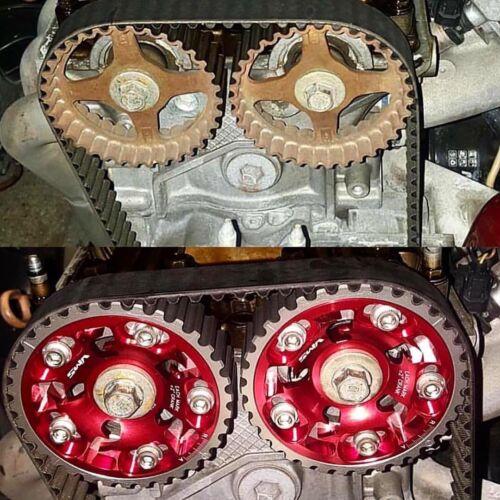 Black New Adjustable Racing Cam Gear  For 88-00 Honda Civic CRX D15 D16 SOHC