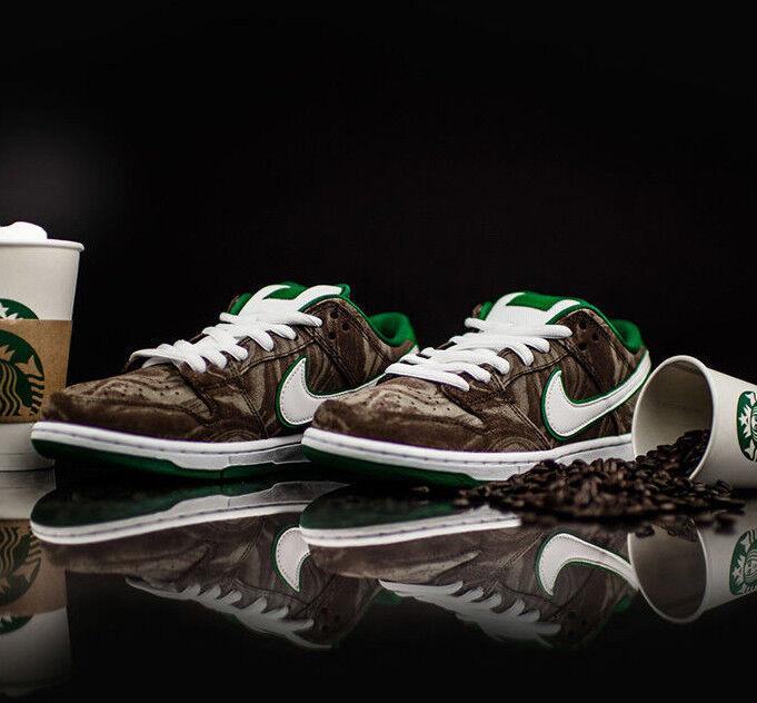 Nike Dunk Low Premium SB STARBUCKS MUDSLIDE COFFEE MENS SZ 11.5 & 12 DS RARE NEW