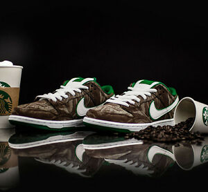 8a526c07a747 Nike Dunk Low Premium SB STARBUCKS MUDSLIDE COFFEE MENS SZ 11.5   12 ...