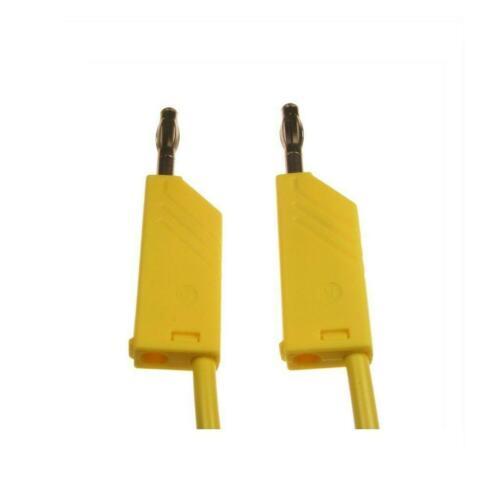 Messleitung 4 mm fiches bananes mln50//1 Hirschmann MLN 50//1 jaune 040620