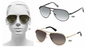 a7a41dc775526 Authentic TOM FORD FT0144 Marko Aviator Men Women Shades Sunglasses ...