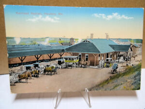 1909-Postcard-Railroad-Station-Houlton-Maine