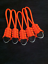5 Fits Back Packs Gear Bags,Zombie Bug Out Bags-Orange Paracord Zipper Pulls