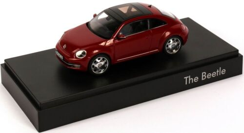 NEW GENUINE VW BEETLE TORNADO RED 1:43 SCALE DIECAST MODEL CAR