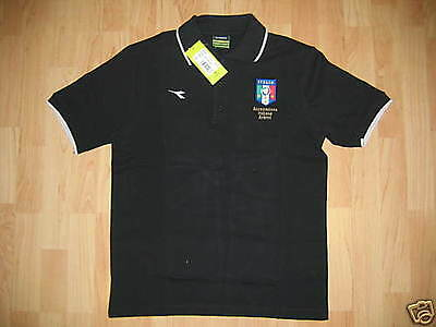 0261 DIADORA TG. M POLO BIANCA NERA AIA ASSOCIAZIONE ITALIANA ARBITRI | eBay