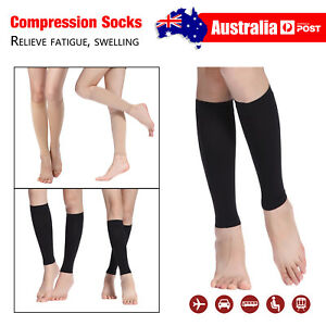9a49cff2c7d130 Image is loading Womens-Mens-Knee-High-Calf-Compression-Sleeve-Surgical-