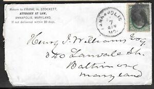 Ee. Uu. 1870 Anapolis Md A Baltimore Attorney A Law Carta