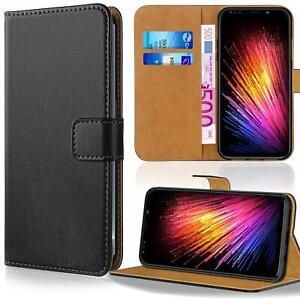 Handy-Tasche-Schutzhuelle-Book-Case-Flip-Cover-Wallet-Etui-Handy-Huelle-Schwarz