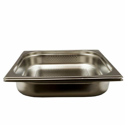 8,92€//1Stk Gastronorm Behälter Edelstahl GN 2//3 Zubehör 4L 65mm t Dampfgarer