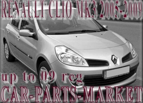 Plaque Aile Droite Miroir Verre Pour Renault Clio MK3 2005-2009 Chauffé