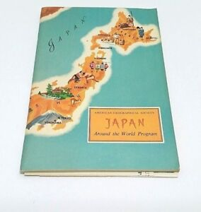 Book-Japan-Around-the-World-Program-American-Geographical-Society-Pamphlet-Vtg