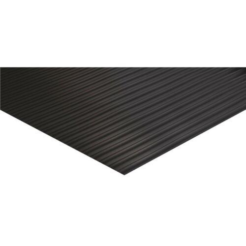 Indoor 4525210-1 Each Tenex 27 In Black Vinyl Ribbed Runner x 75 Ft
