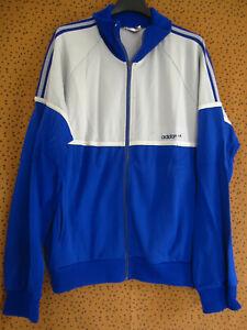 Détails sur Veste Adidas Ventex France 80'S grise et bleu Vintage Jacket Sport 174 M