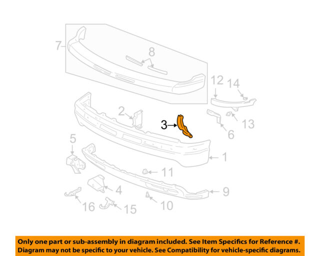 Genuine GM Parts 88944245 Driver Side Front Bumper Bracket Genuine General Motors Parts